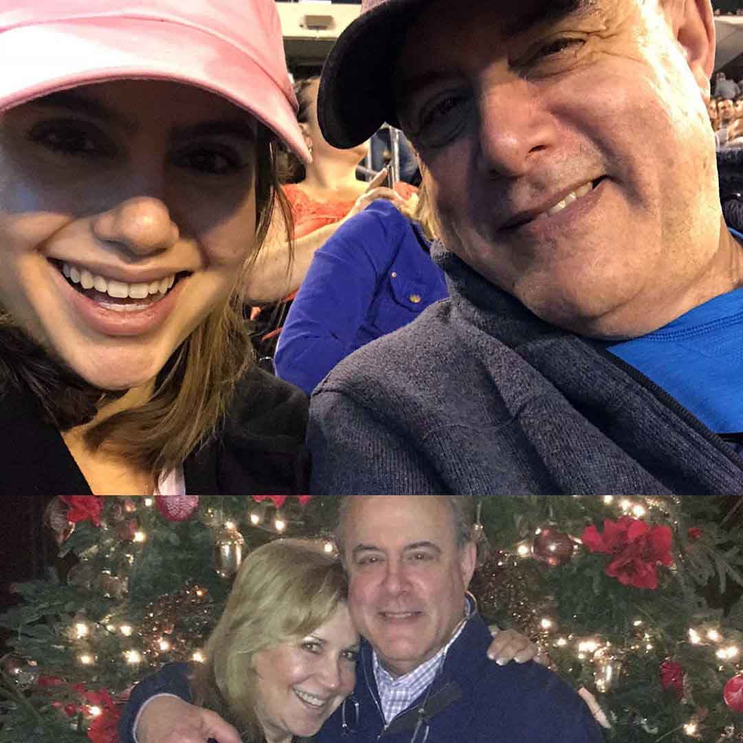 Photo of Sami Gayle and her father an mother in Christmas.